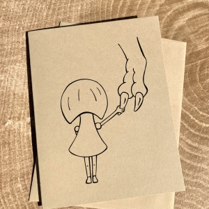 Girl & Rex Notecard- Girl & Rex Comfort notecard on kraft cardstock