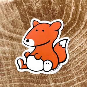 Vinyl sticker of a fox