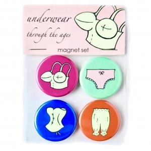 Ladies Undewear Magnets- bullet bra, corset, pantaloons, panties