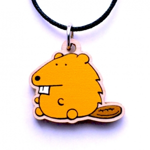 Beaver Necklace on Maple Charm