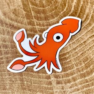 Vinyl sticker of a giant squid