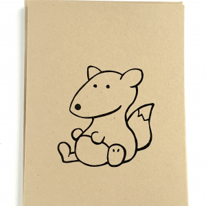 Fox Notecard- Woodland Critters
